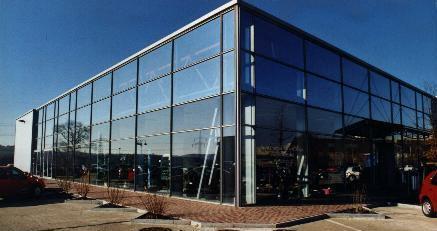 Fassade glas  Metallbau Hammer Coswig · Fassaden